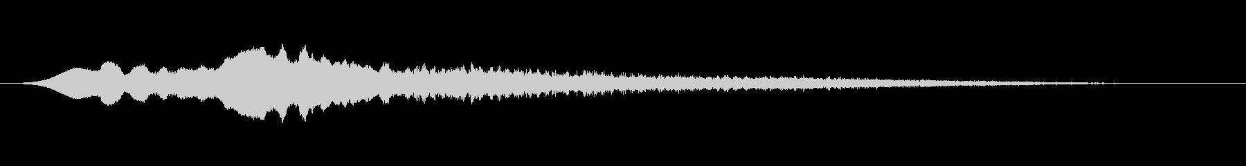 かみそりの鳴き声2の未再生の波形