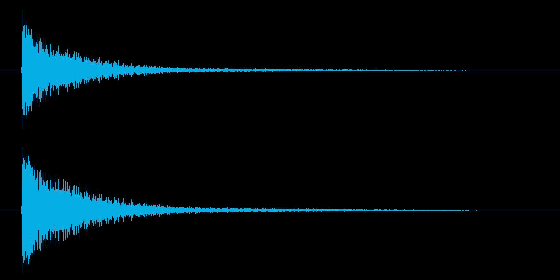 ガーンというピアノの音の再生済みの波形