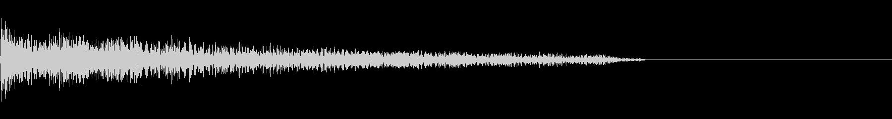 昇順と降順の細長いギター弦スライド。の未再生の波形