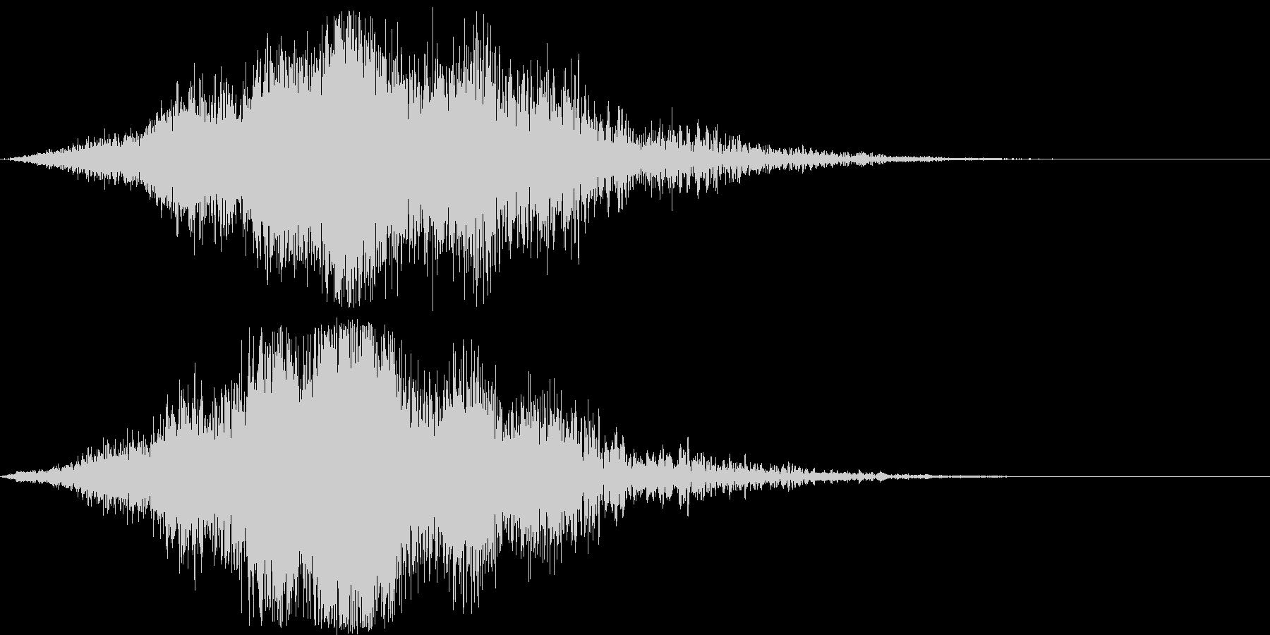 迫力のタイトルロゴ(映画・電子音)7の未再生の波形