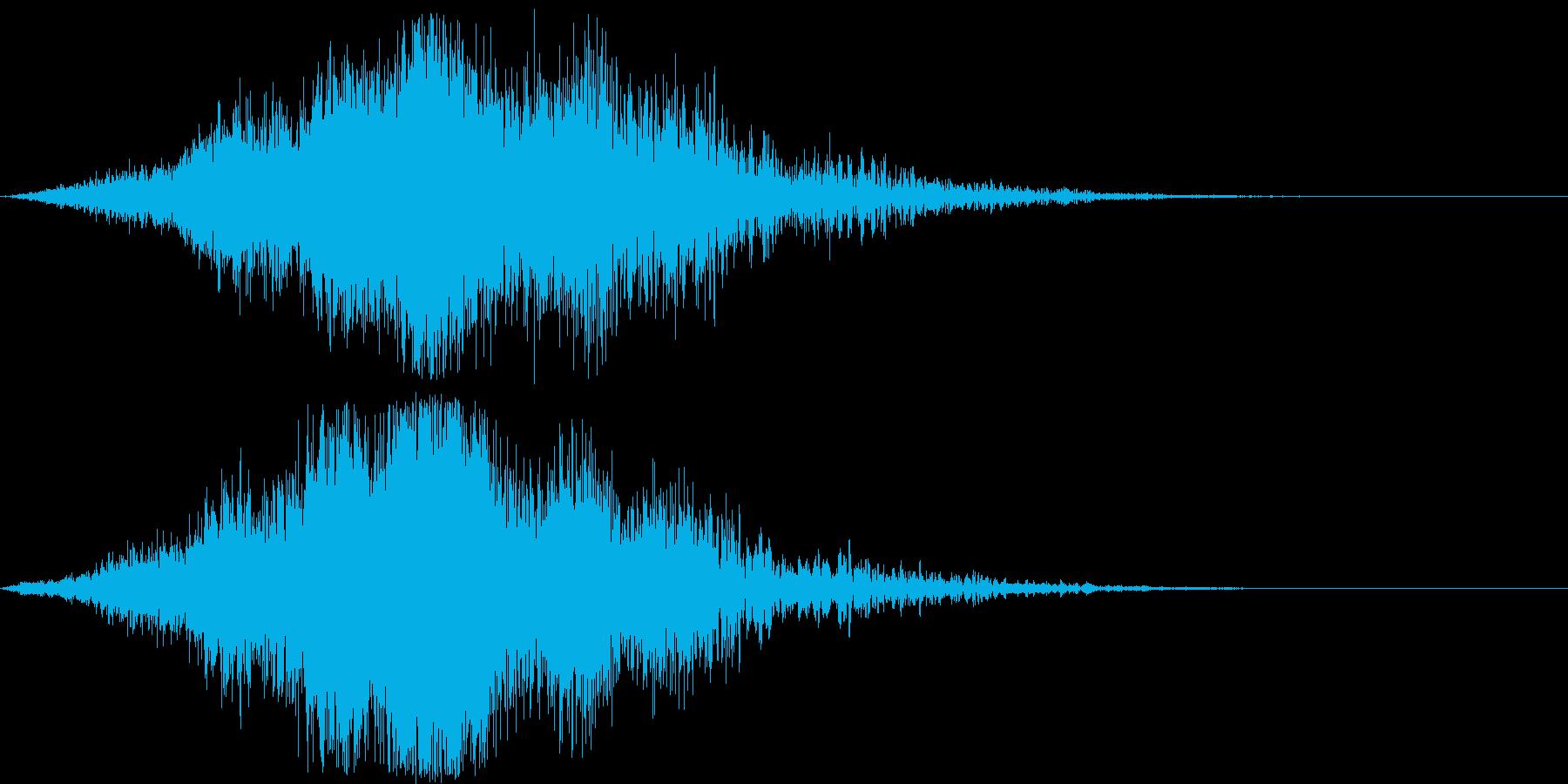 迫力のタイトルロゴ(映画・電子音)7の再生済みの波形