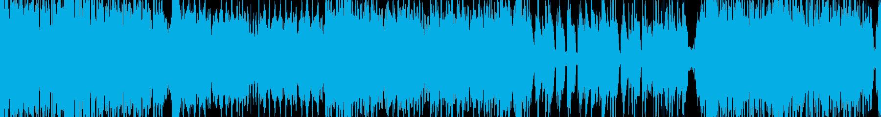 ドタバタ和風のクラブチューンの再生済みの波形