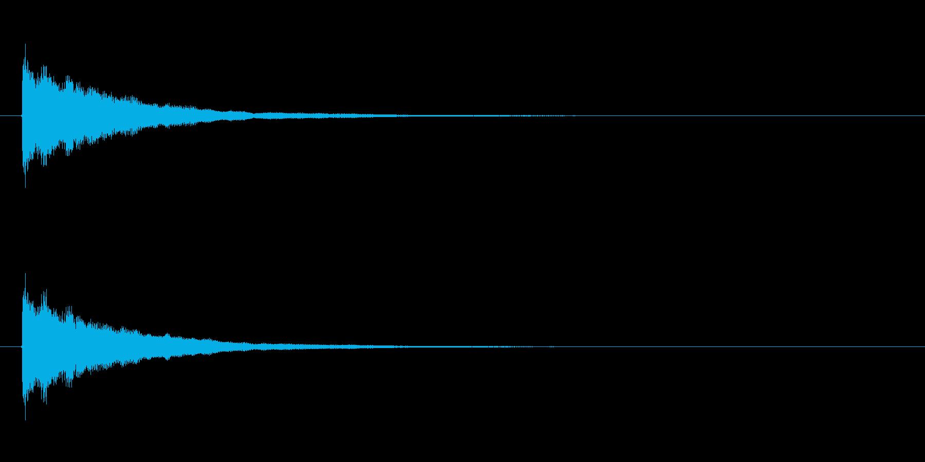 ベル系アタックの再生済みの波形