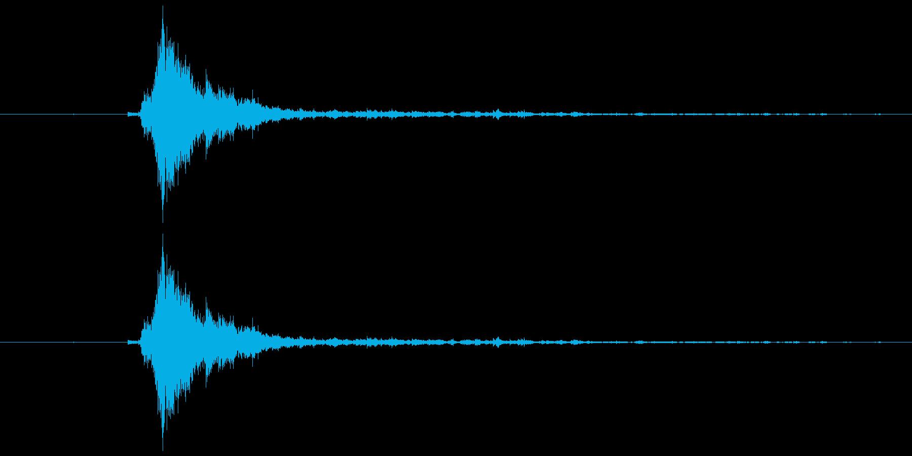 神楽鈴一振り  シャンの再生済みの波形