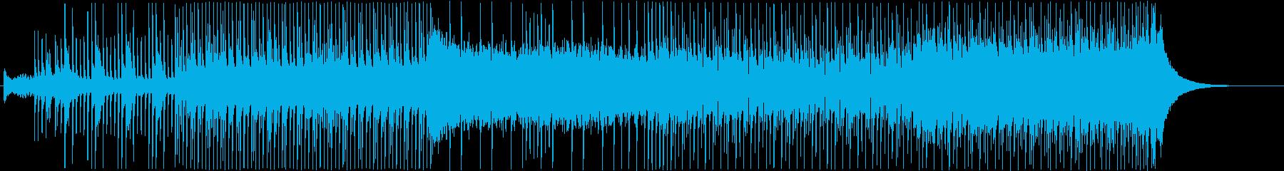 三味線を使った和風のEDMの再生済みの波形