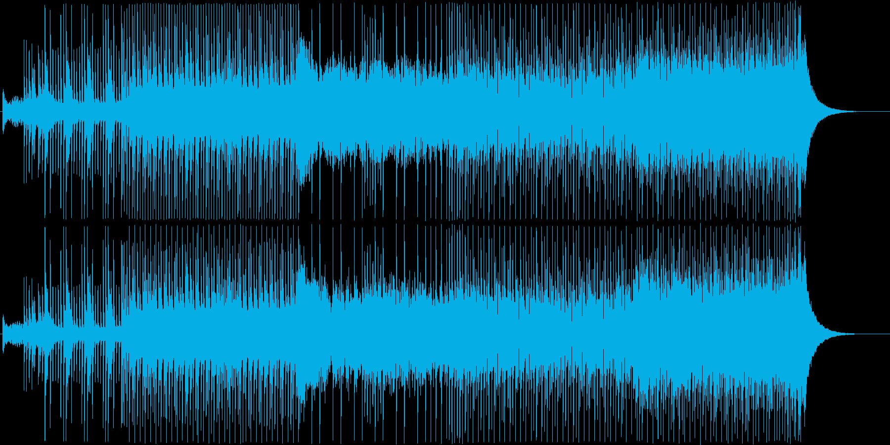 三味線を使った和風のクラブ音楽の再生済みの波形