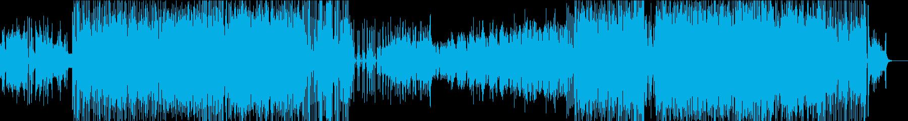 ピアノとアコーディオンの明るい曲ですの再生済みの波形