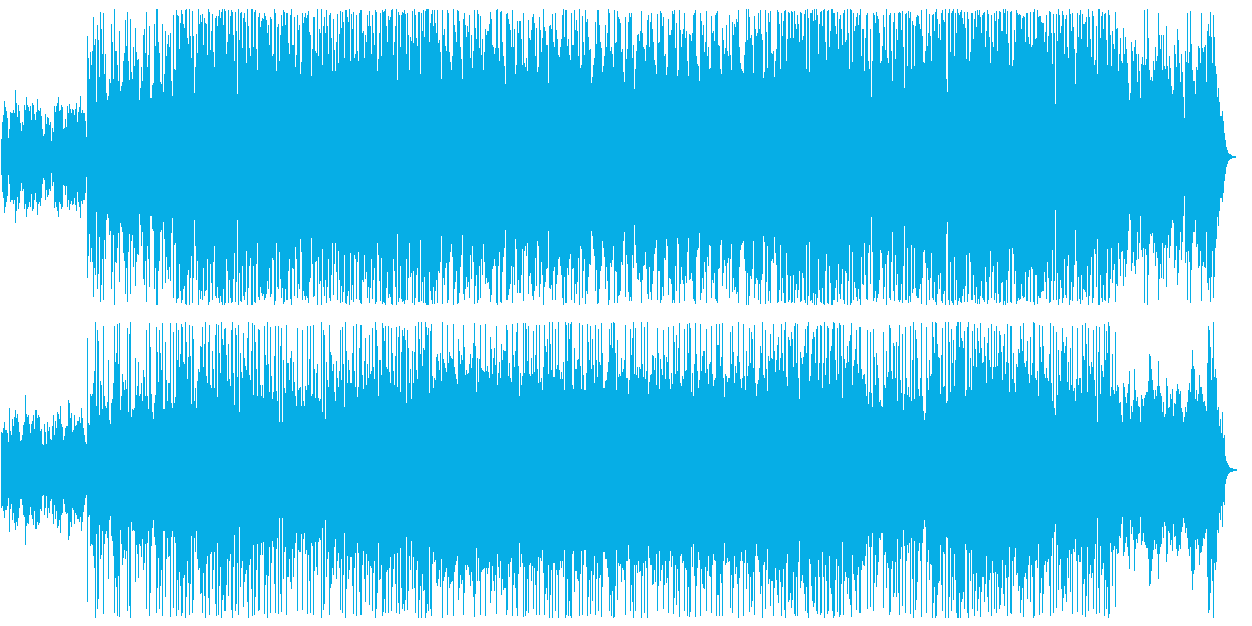 神秘的な印象のシンセサウンドの再生済みの波形