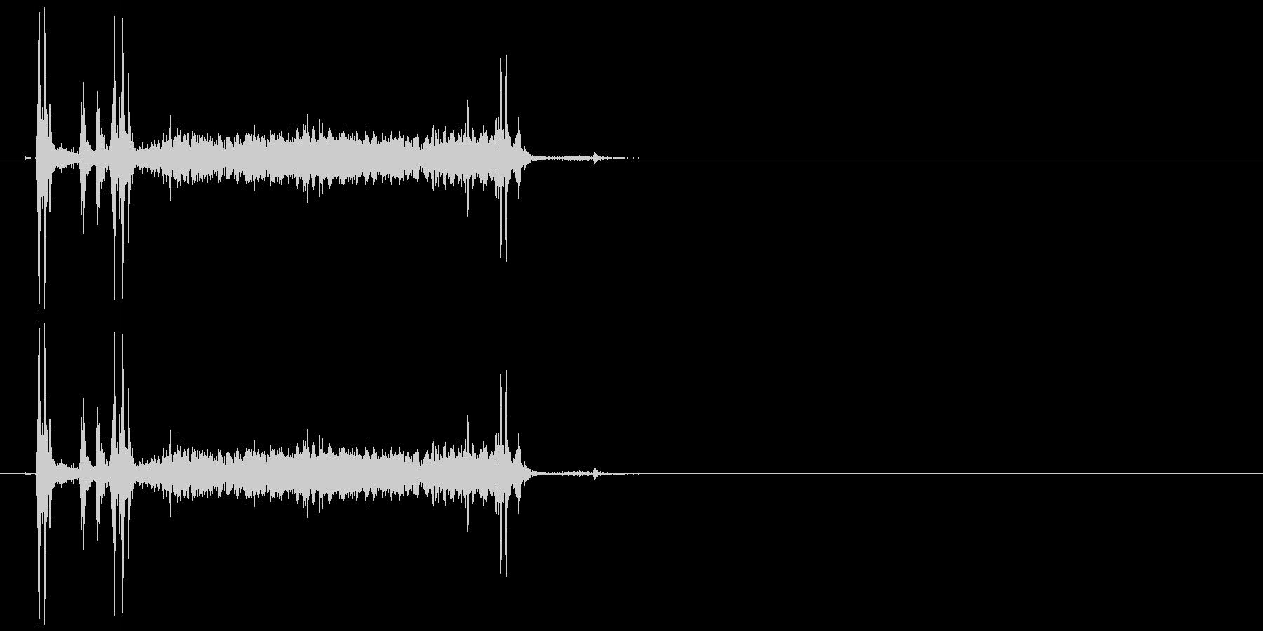 カメラのシャッター音 カシャウイーンの未再生の波形
