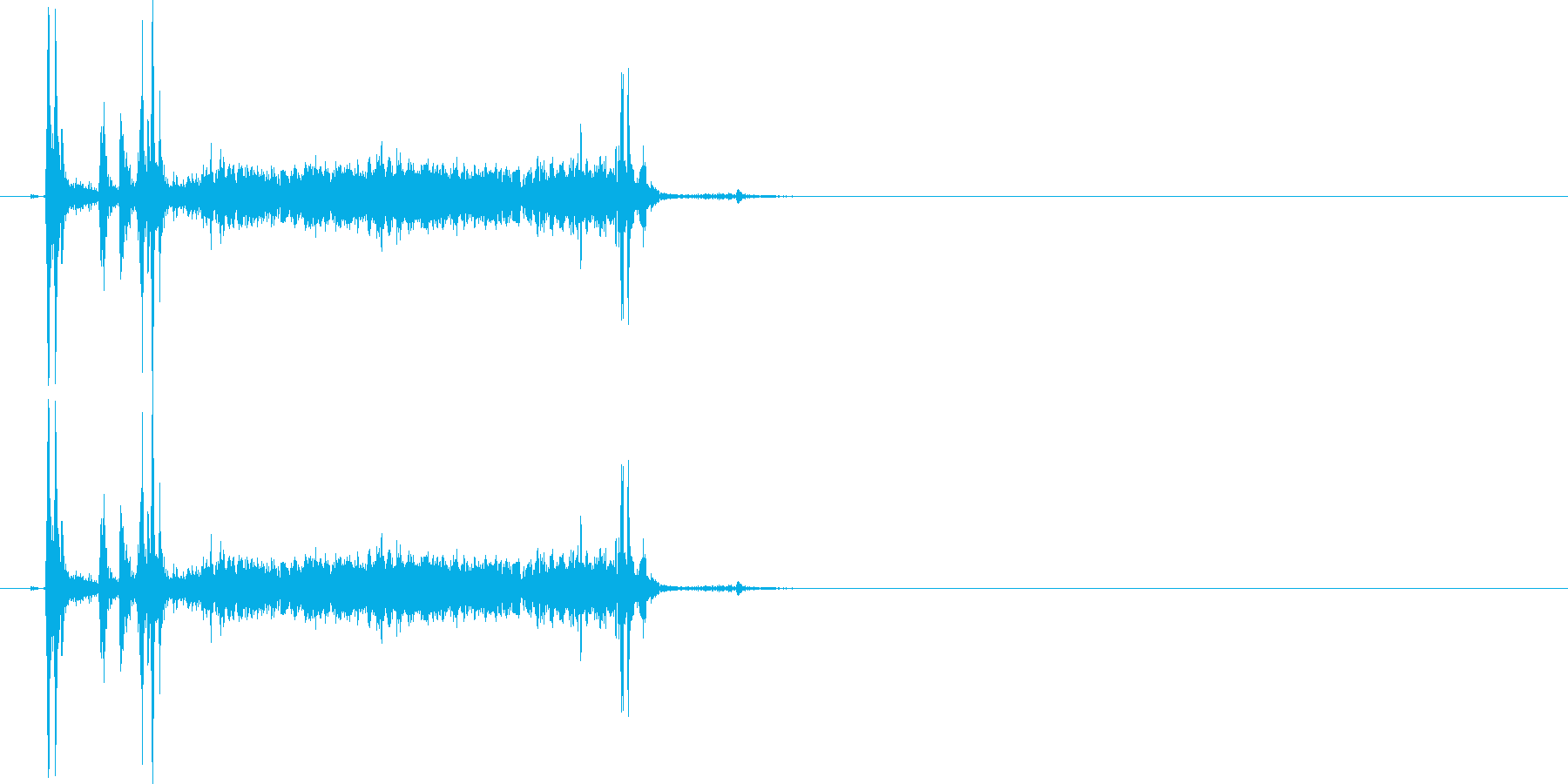 カメラのシャッター音 カシャウイーンの再生済みの波形