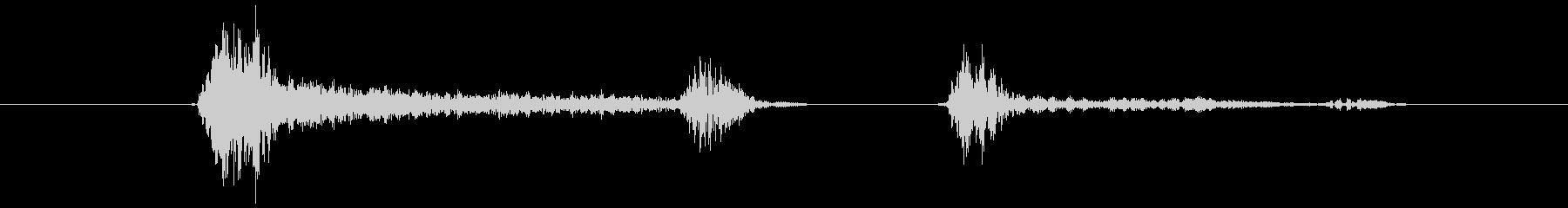鳴き声 男性の咳02の未再生の波形