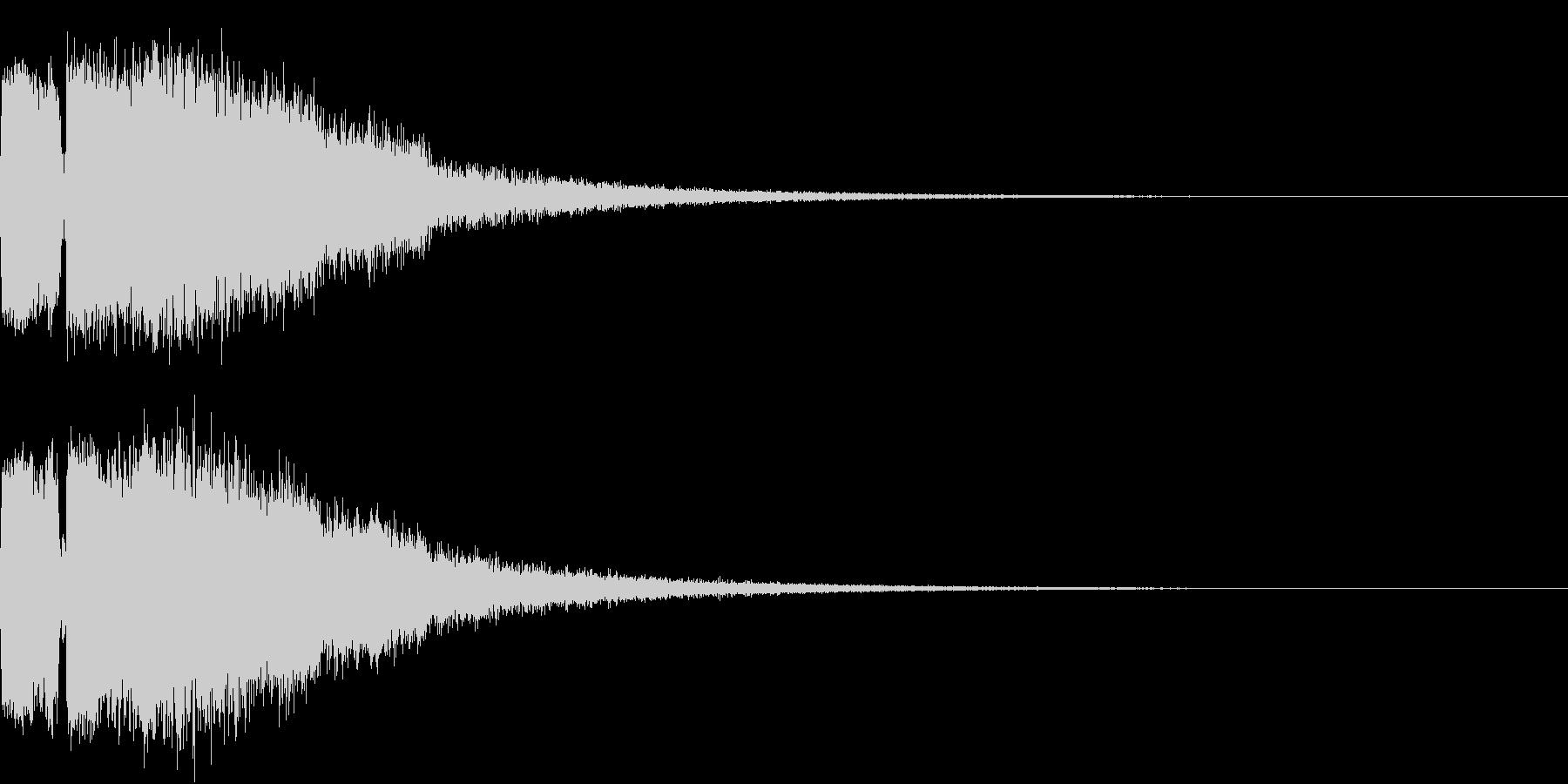 ピコピコ キューン ヒューン シューンBの未再生の波形