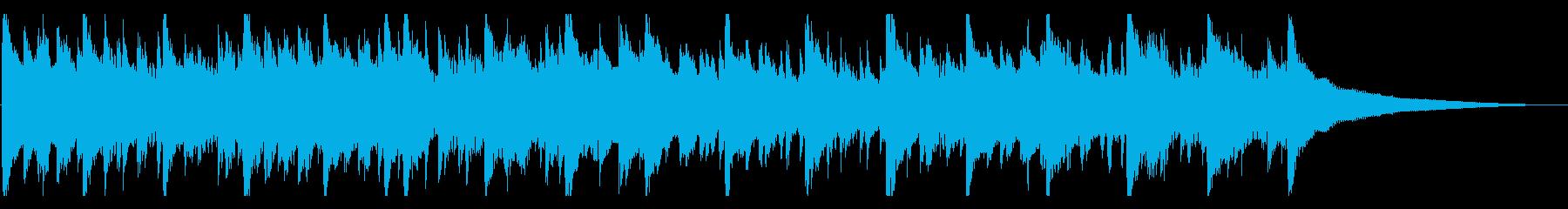 30秒打楽器なし楽しい、明るい、ウクレレの再生済みの波形