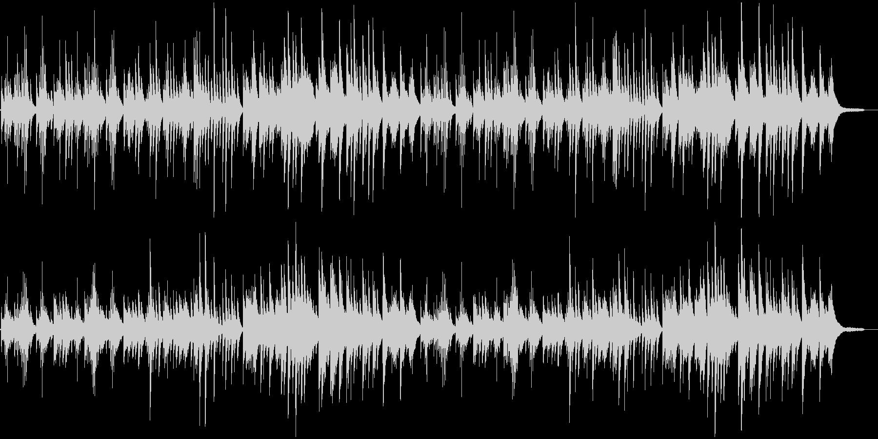 やさしい3拍子のピアノ曲の未再生の波形