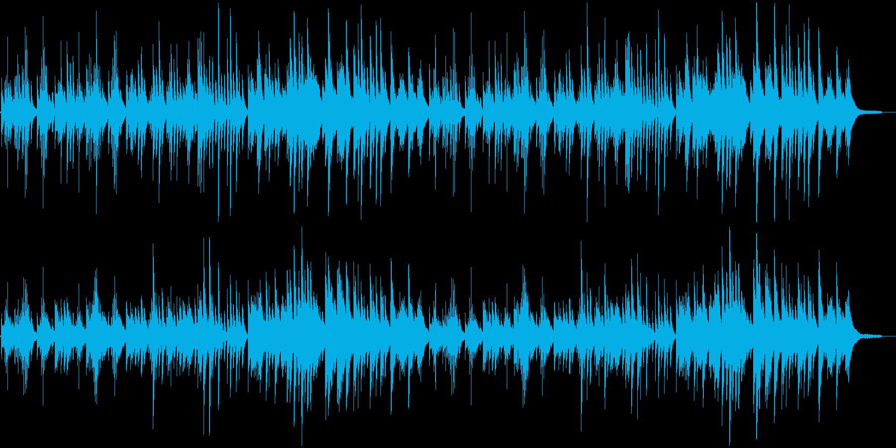 やさしい3拍子のピアノ曲の再生済みの波形