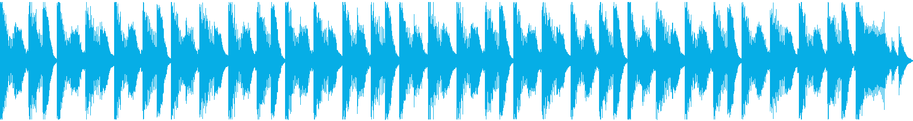 犬・猫・子供の大忙しシンセループの再生済みの波形