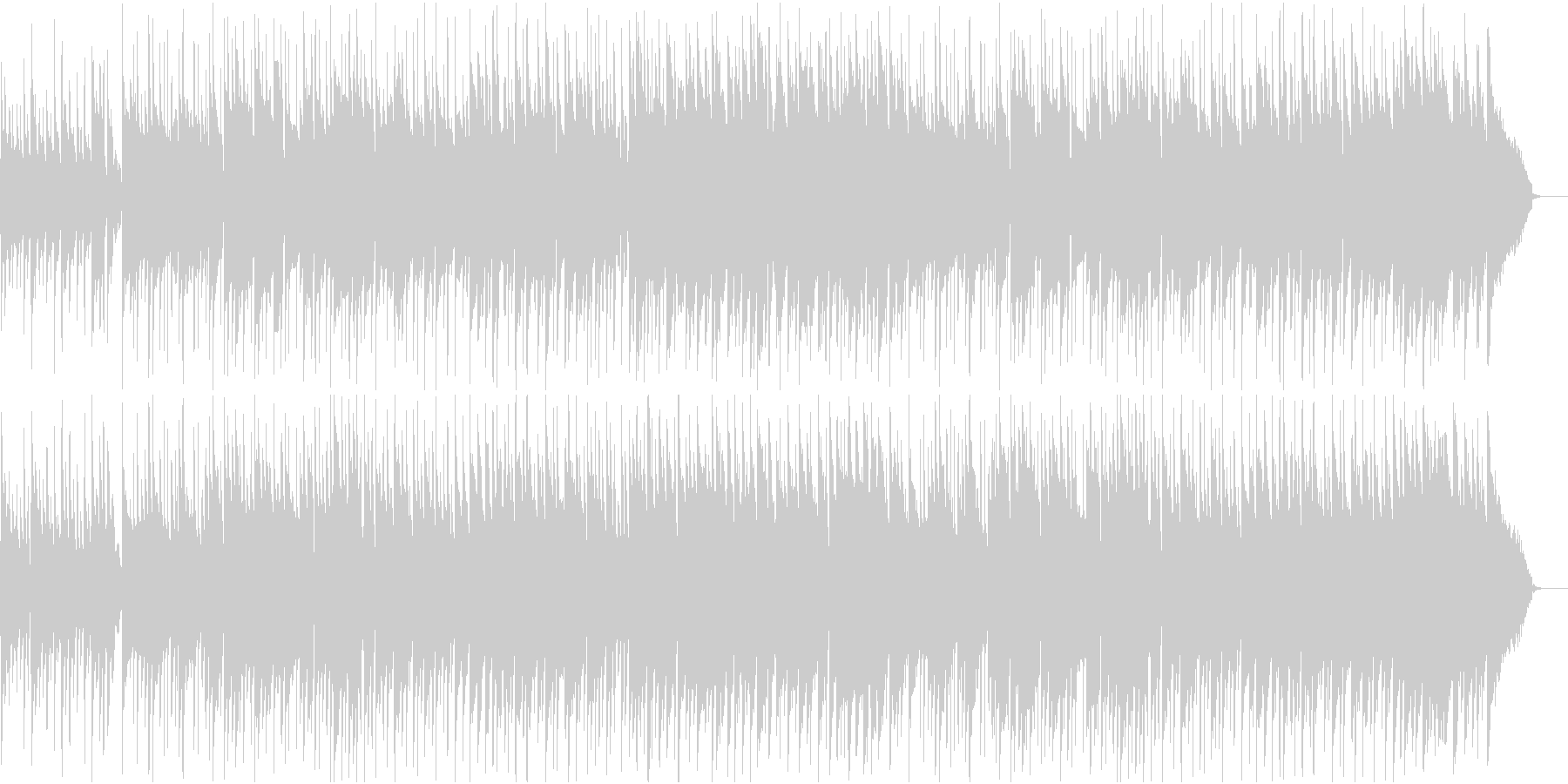さわやかなBGMの未再生の波形