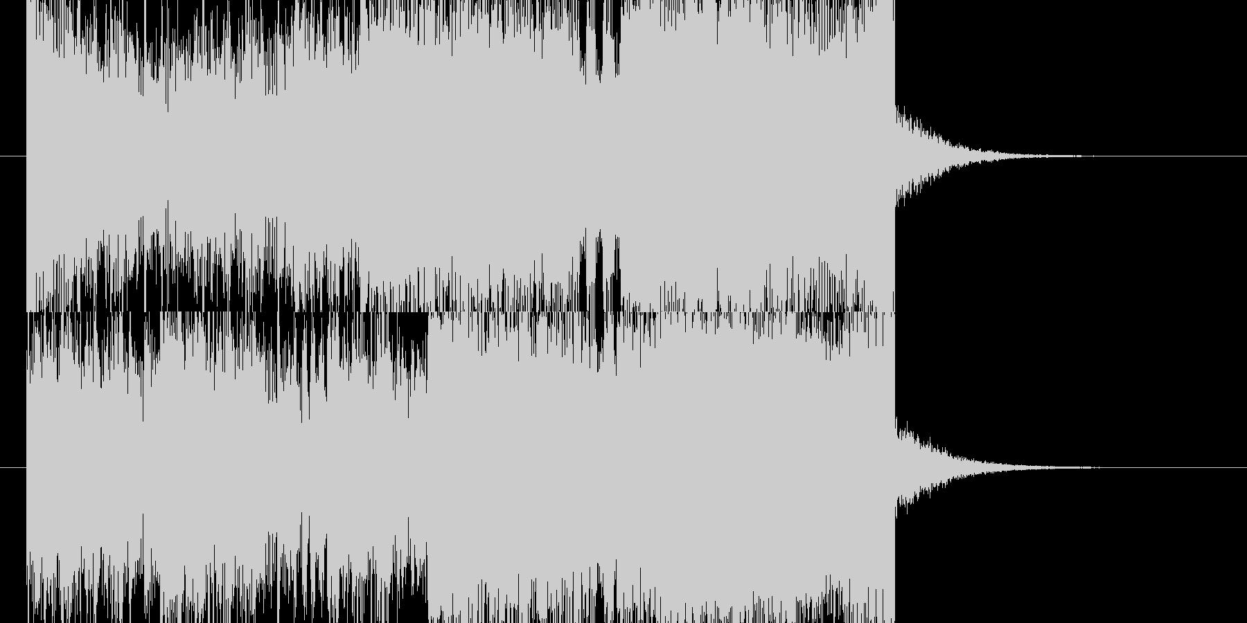 ハードな格闘対戦サウンドロゴの未再生の波形