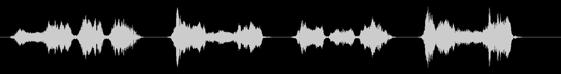 「イーヤーサーサー」「ハーイーヤー」の未再生の波形