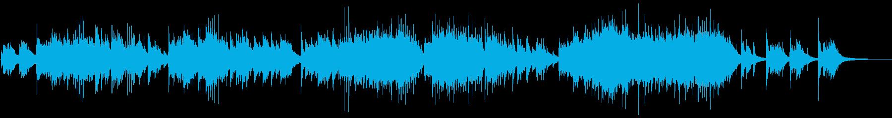 緩やかで穏やかなピアノバラードの再生済みの波形