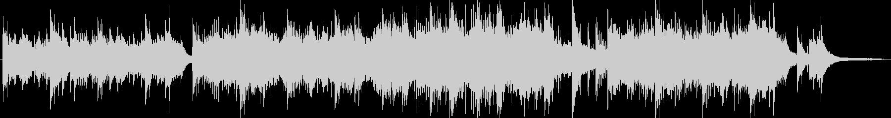 ピアノによるシンセバラード曲の未再生の波形