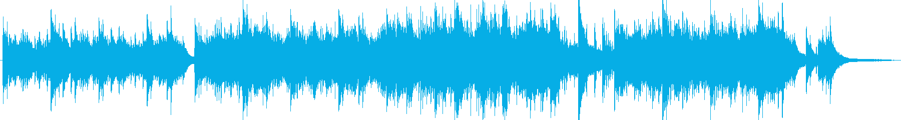 ピアノによるシンセバラード曲の再生済みの波形