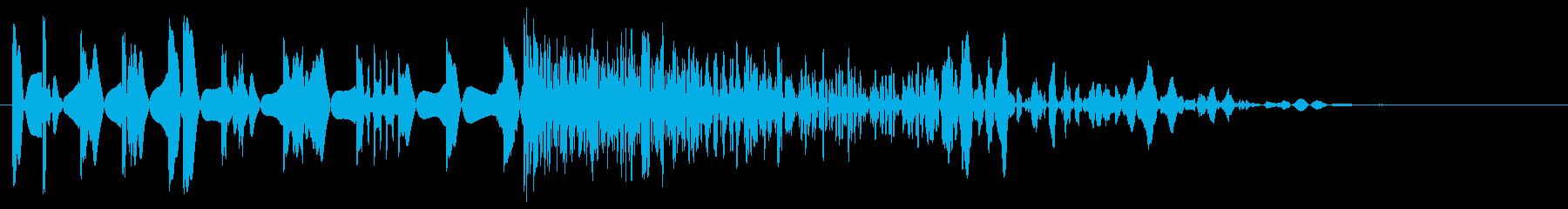 レトロゲーム風 通常攻撃音の再生済みの波形