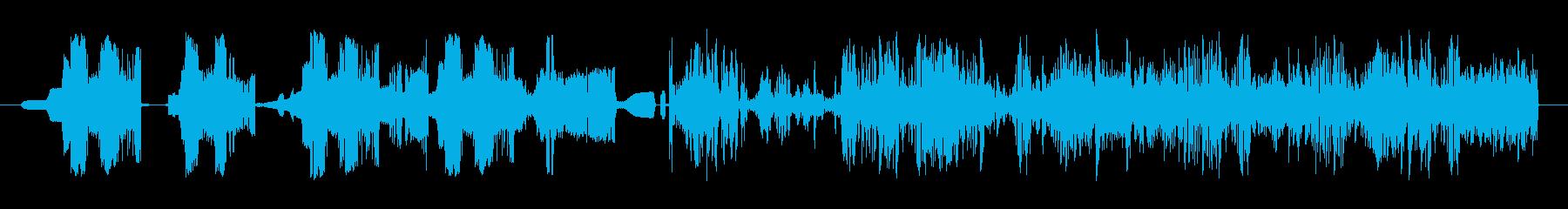 ホイップ静的スワイプ8の再生済みの波形