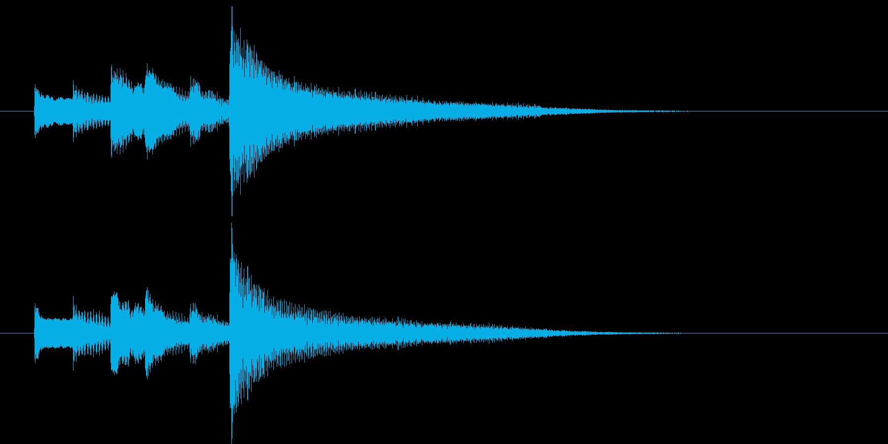 ピアノによる落ち着いたサウンドロゴの再生済みの波形