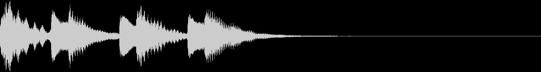 ほのぼのとしたジングル:13-2の未再生の波形