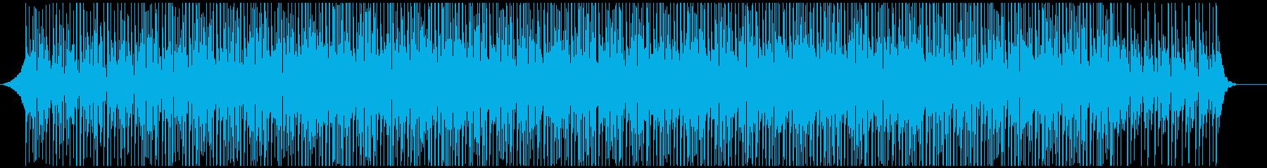 ビジネス向け明るいエレキギターのBGMの再生済みの波形