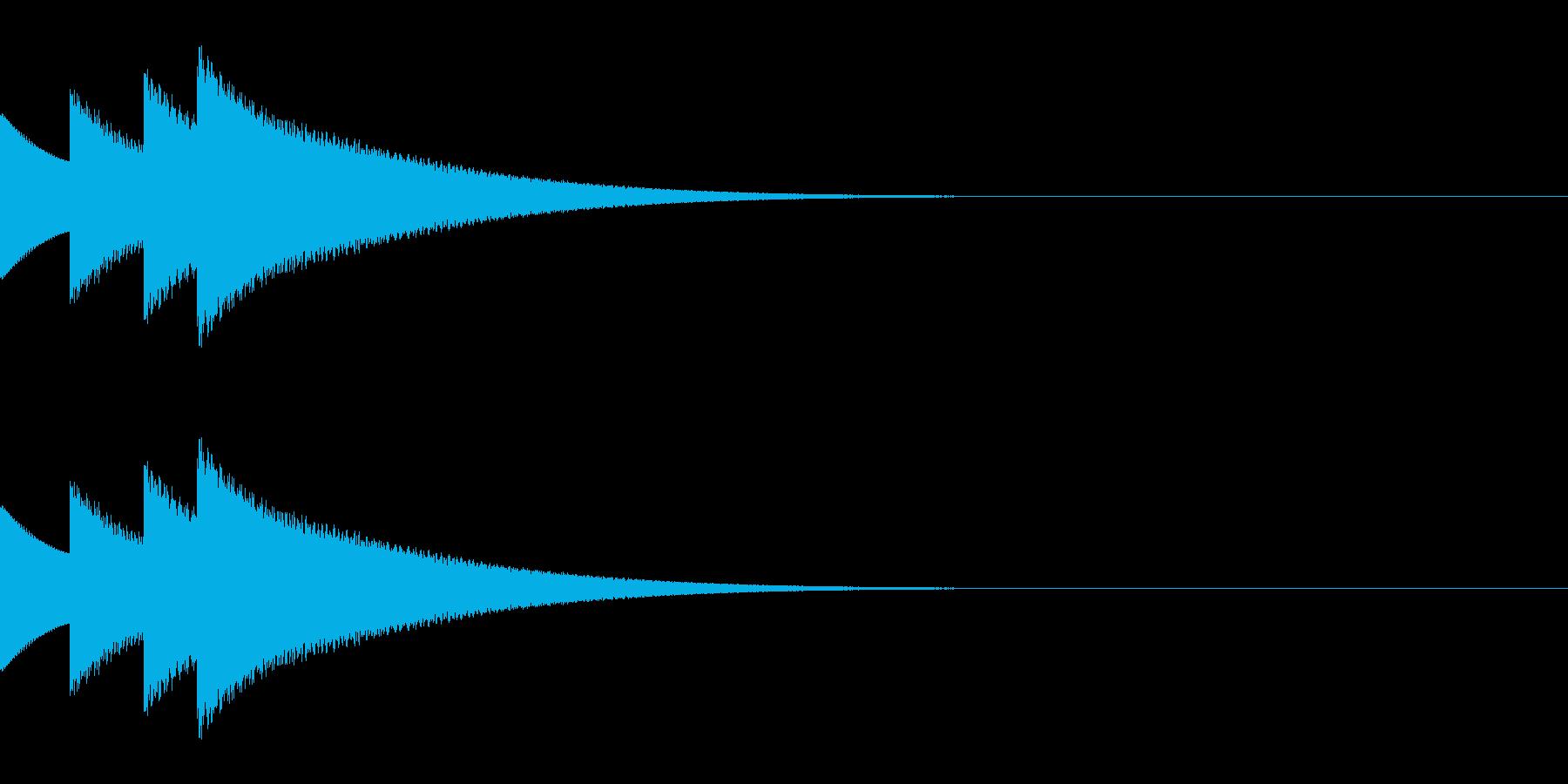 クイズ正解の効果音「ぴんぽんぴんぽーん」の再生済みの波形
