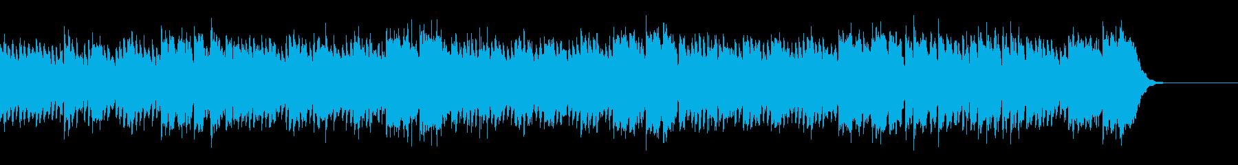優しくエンディング感のあるピアノ曲の再生済みの波形