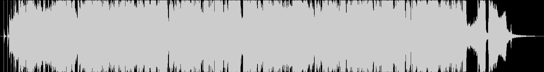 アップテンポなブルースソロ、ロカビリーの未再生の波形