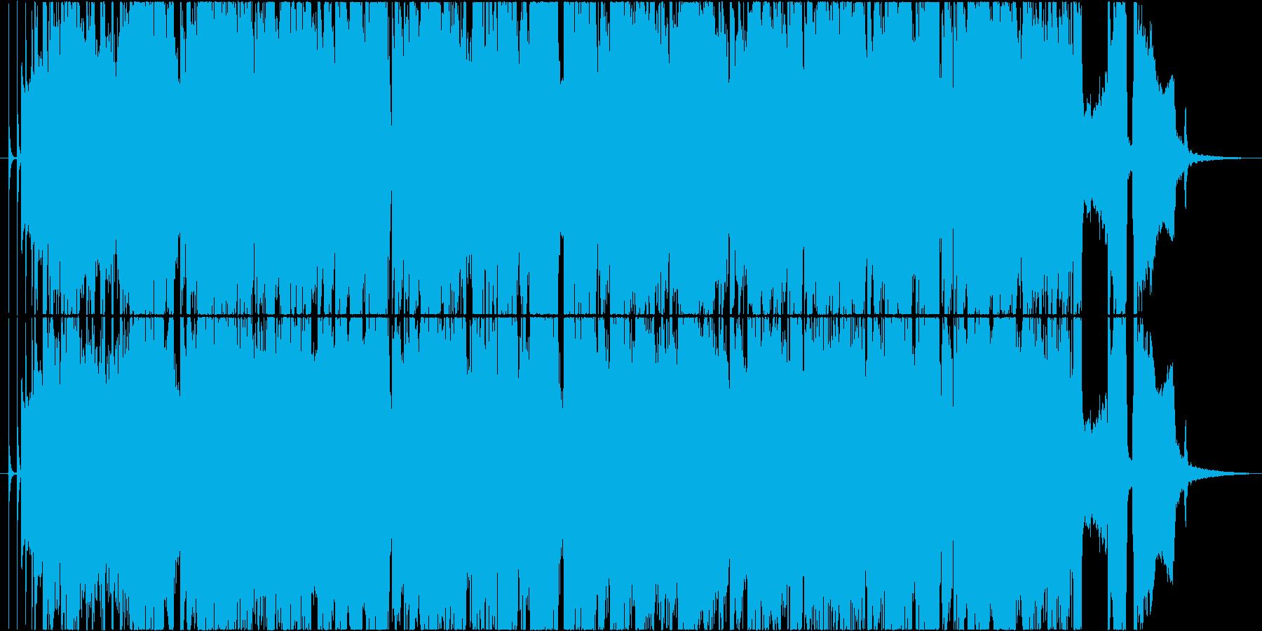 アップテンポなブルースソロ、ロカビリーの再生済みの波形