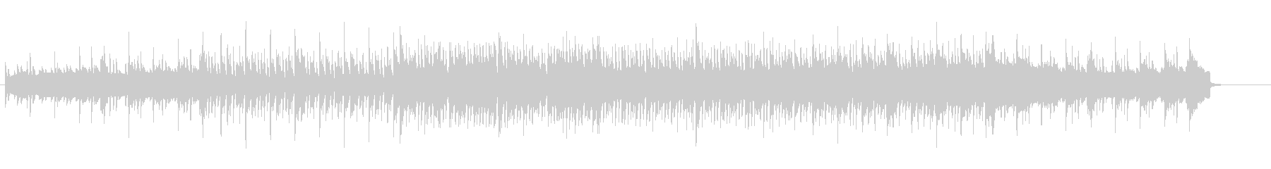 洗練されたエレクトリックなポップ/ロックの未再生の波形