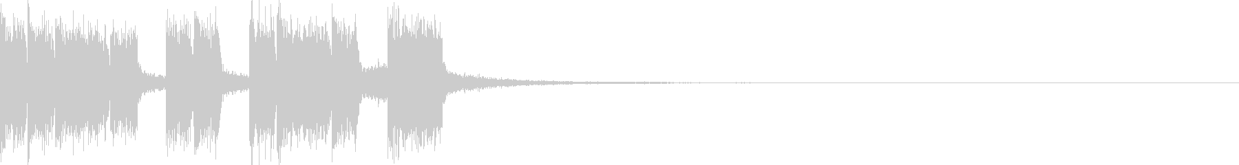 格闘ゲームエキサイティングEDMジングルの未再生の波形