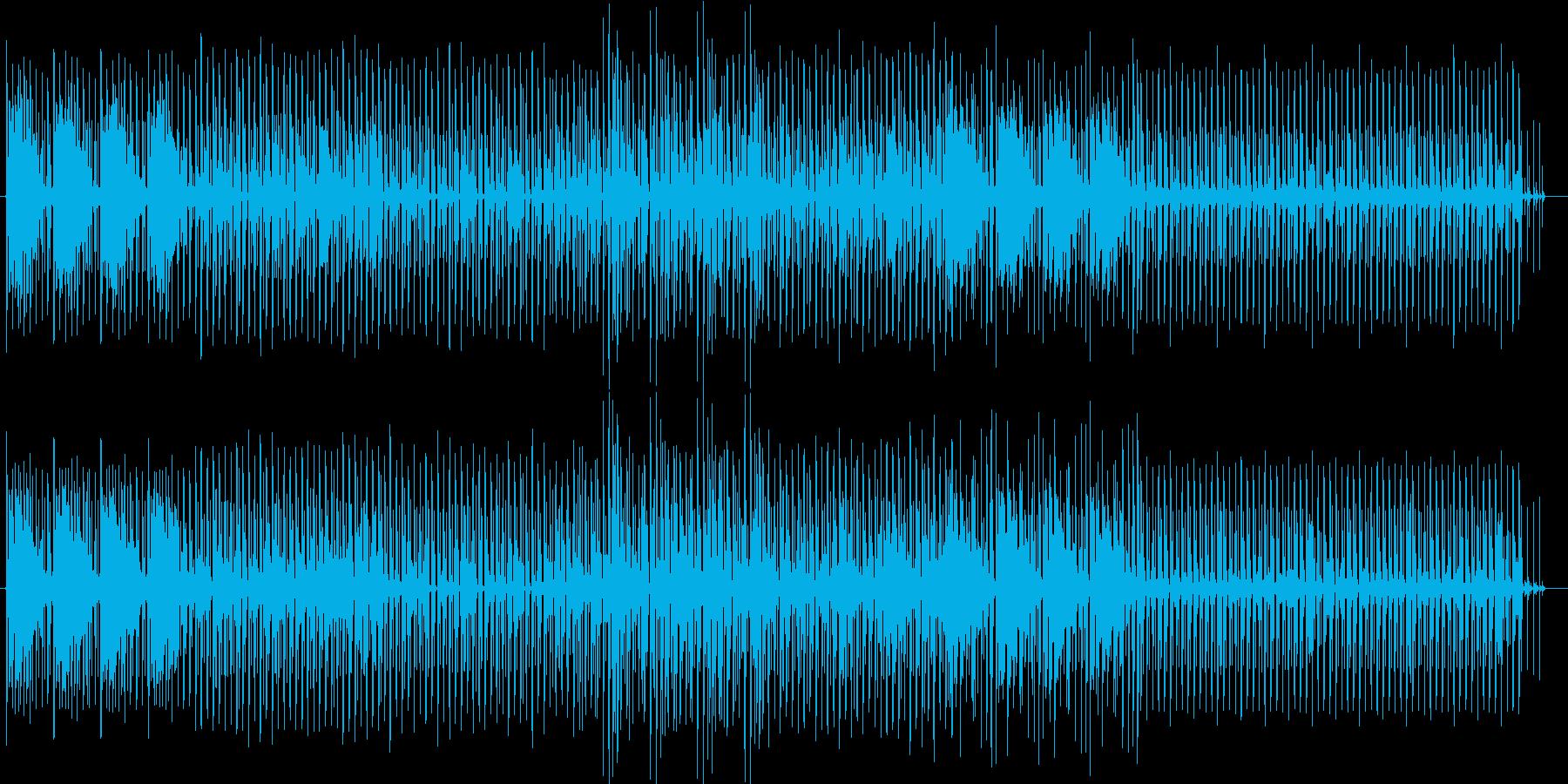 近未来的でクールな疾走感のEDMの再生済みの波形
