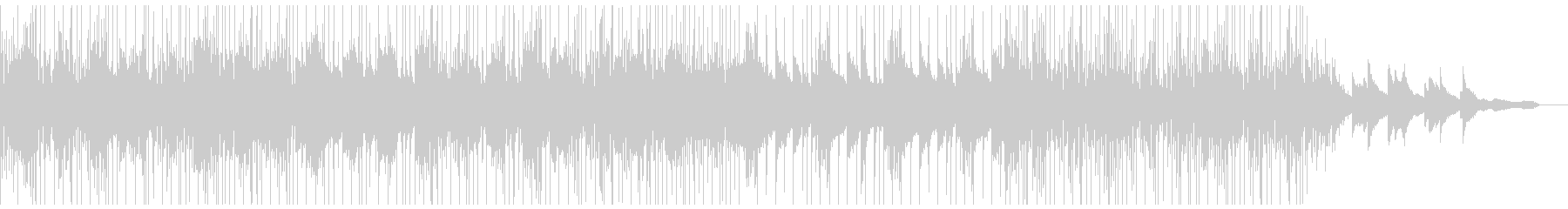 ピアノとワブルベースのアンビエントの未再生の波形