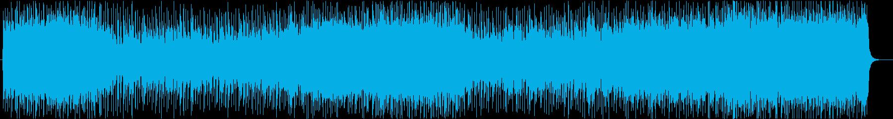 デジタルなメロディとギターリフの情熱の再生済みの波形