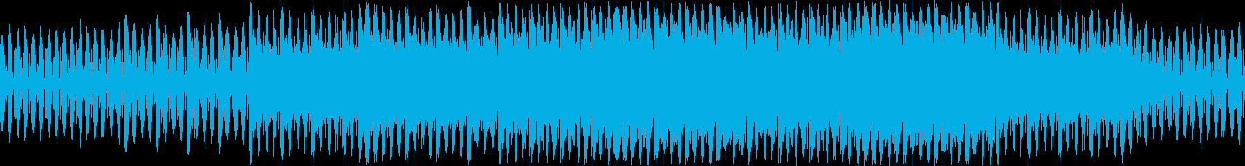 爽快なカッティングギターのループ曲の再生済みの波形