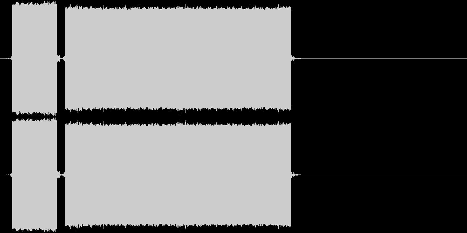 ブブー(不正解の音)の未再生の波形