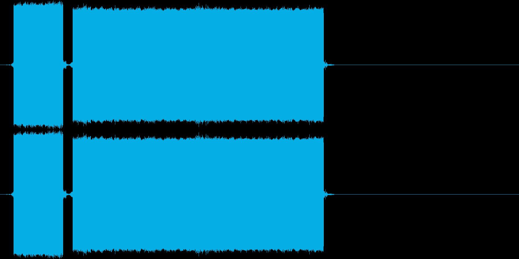 ブブー(不正解の音)の再生済みの波形