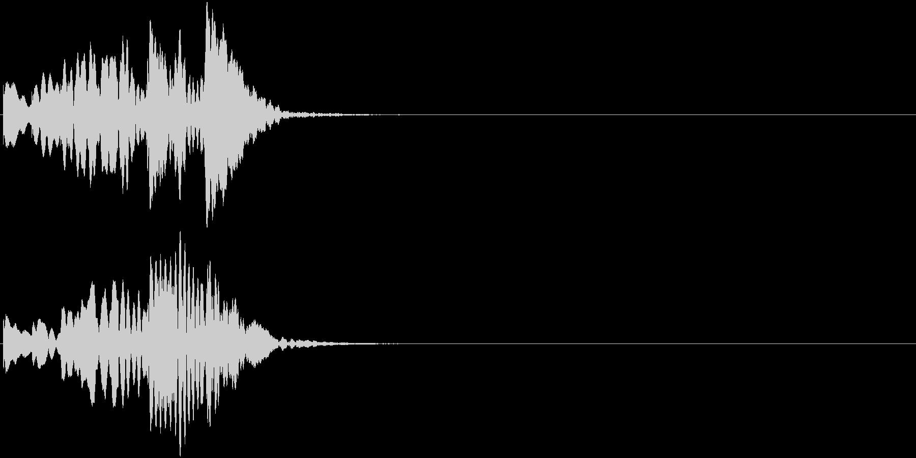 シーン切替 場面転換 木琴 上昇タラランの未再生の波形
