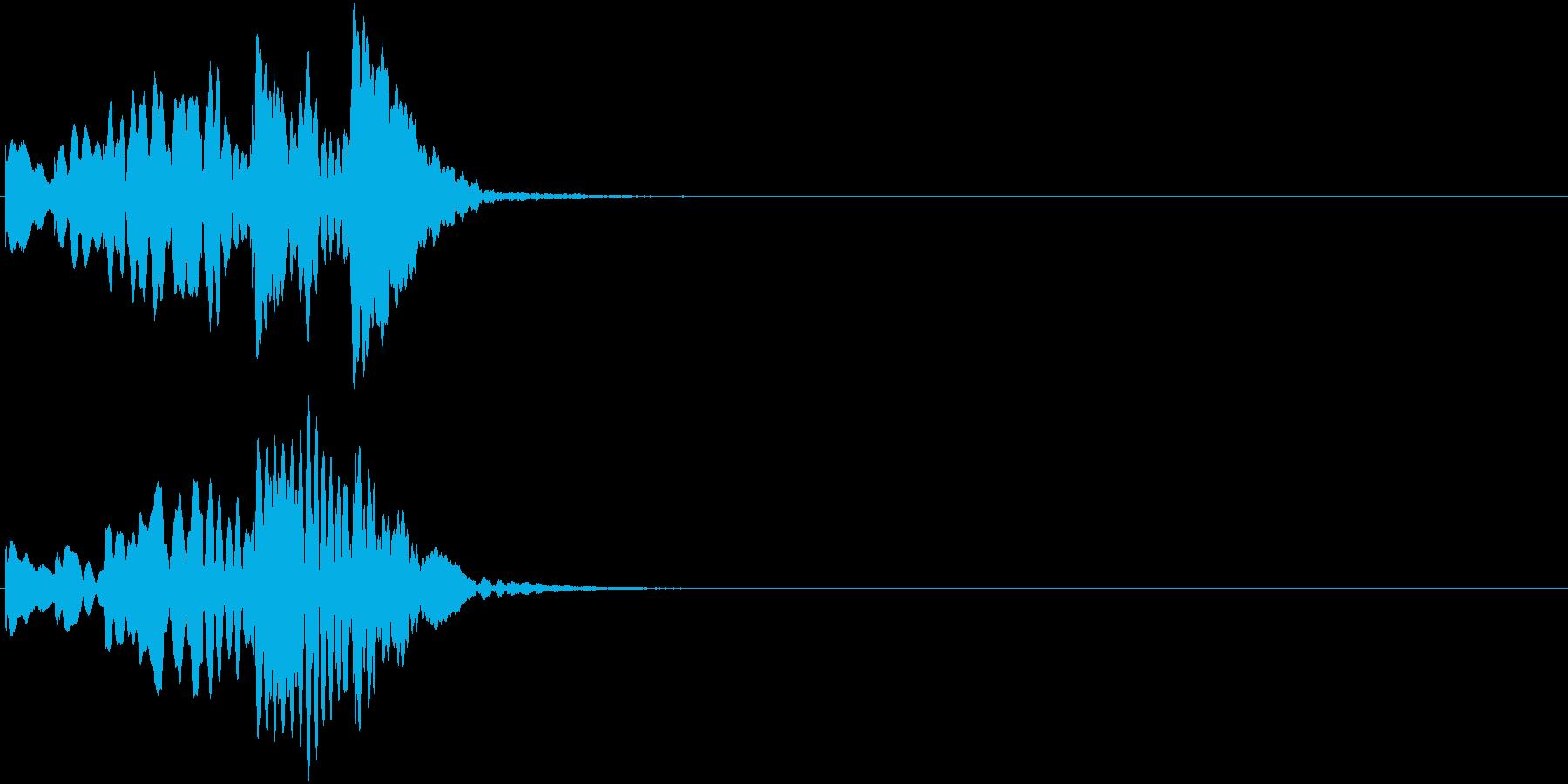 シーン切替 場面転換 木琴 上昇タラランの再生済みの波形