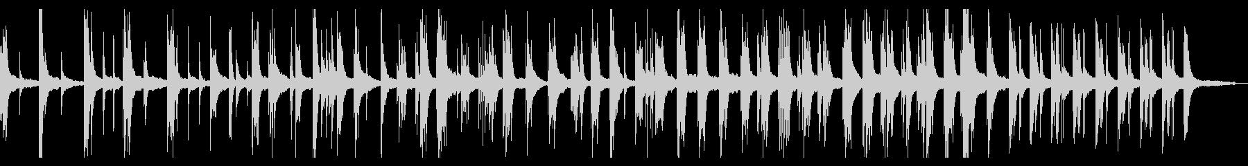 訥々と紡がれる静かな即興ピアノソロの未再生の波形