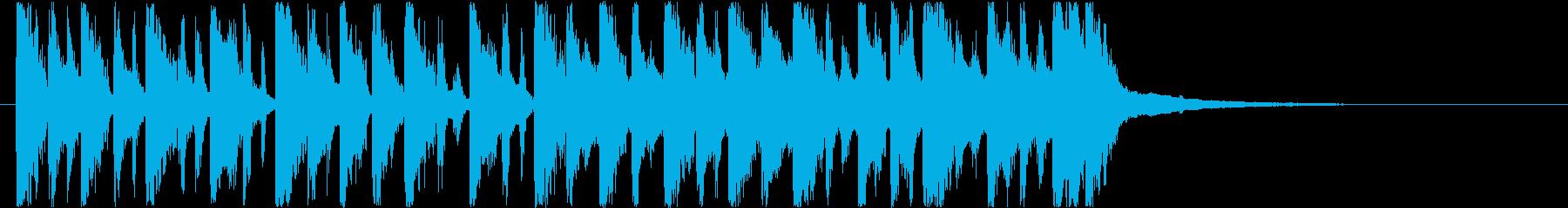 ちょっと不思議な和風テクノっぽいのんの再生済みの波形