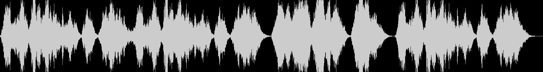 終幕の未再生の波形