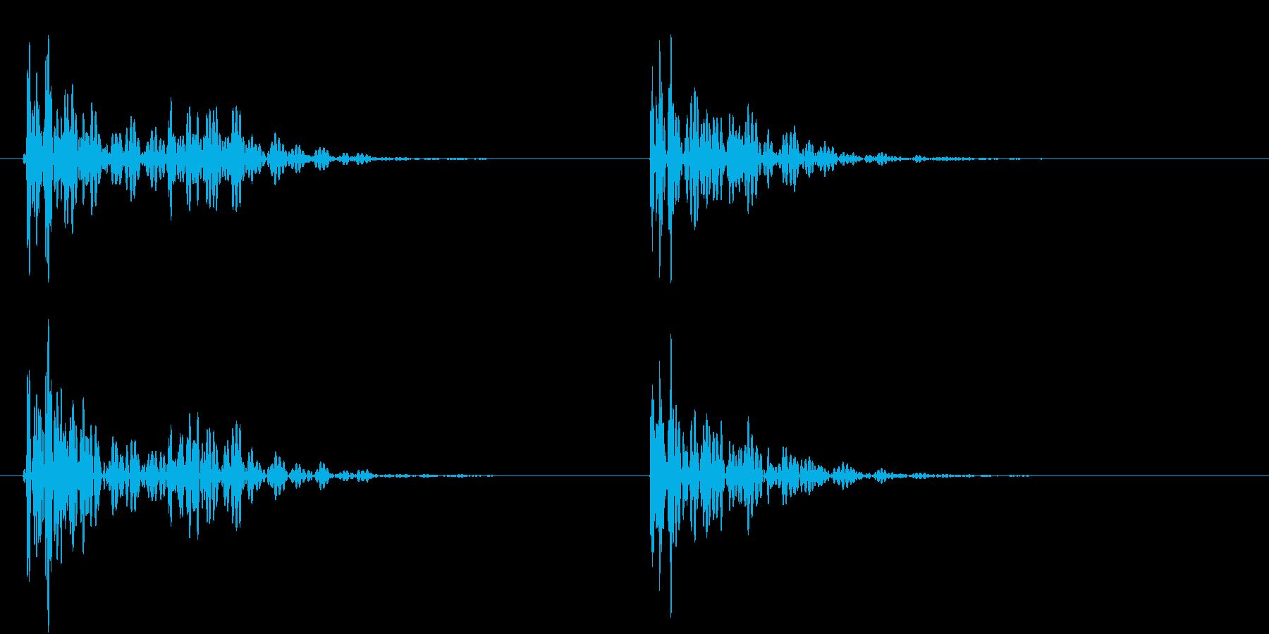 【生録音】お茶碗をテーブルに置く音 3の再生済みの波形