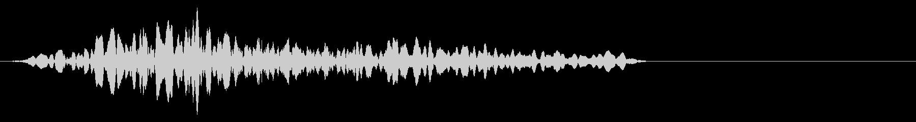 どん!とモンスターイメージの打撃音の未再生の波形